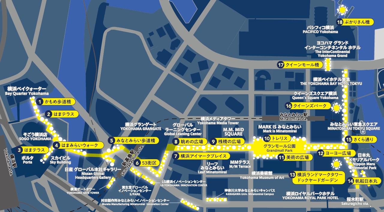 ヨコハマミライト MAP